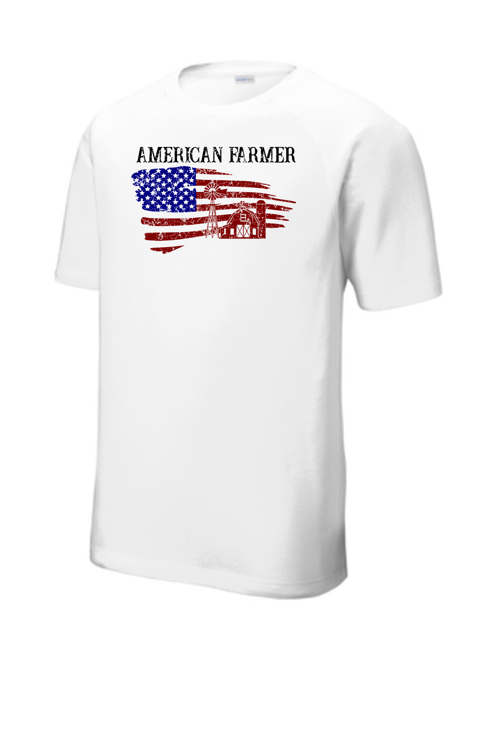 American Farmer Tri-Blend Wicking Raglan Tee
