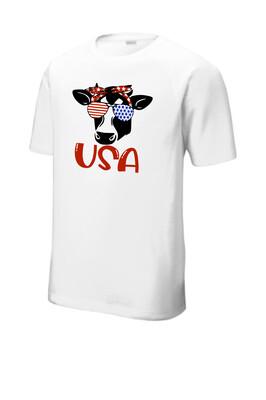 USA Heifer Tri-Blend Wicking Raglan Tee