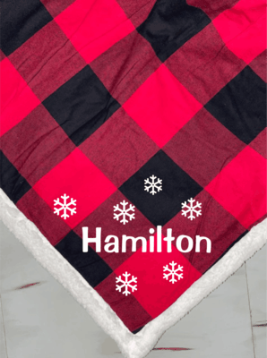 Port Authority Custom Embroidered Flannel Sherpa Blanket