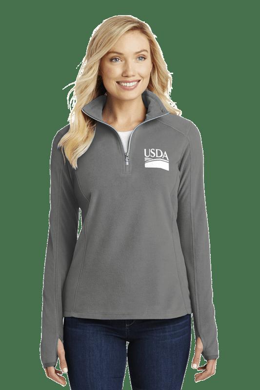 Ladies' Half-Zip Microfleece Pullover  Custom Embroidery Available