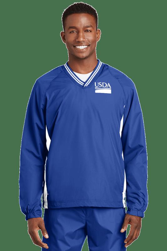 Unisex Tipped V-Neck Raglan Wind Shirt