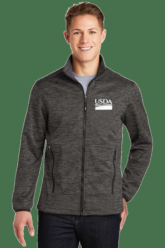 Unisex Electric Heather Soft Shell Jacket
