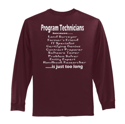 Long Sleeve Program Technican