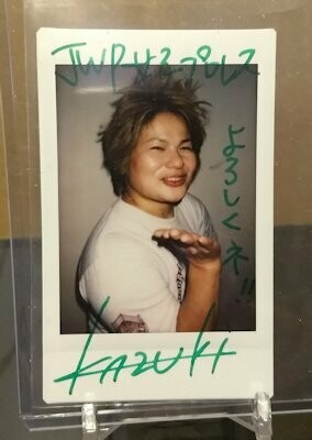 KAZUKI 2016 BBM Joshi True Heart Cheki Autograph /7