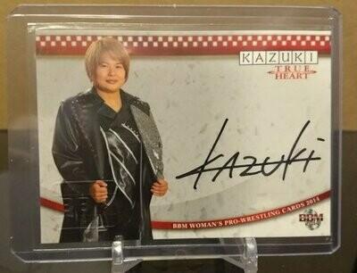 KAZUKI 2014 BBM Joshi True Heart Autograph /90