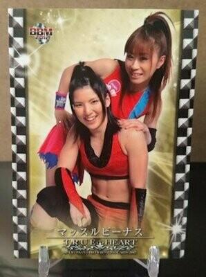 Hikaru Shida and Tsukasa Fujimoto 2012 BBM Joshi True Heart Base Card