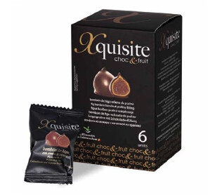 Bombones de Higos Secos - Xquisite Choc&Fruit - recubiertos de Chocolate Negro. 6 Unid. 120g Xquisite - Gourmet by Beites