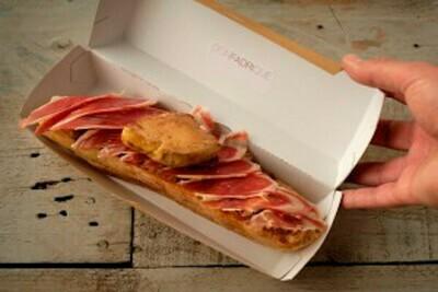 Tosta de jamón y foie (60g Jamón Ibérico de Bellota) - Restaurante Don Fadrique