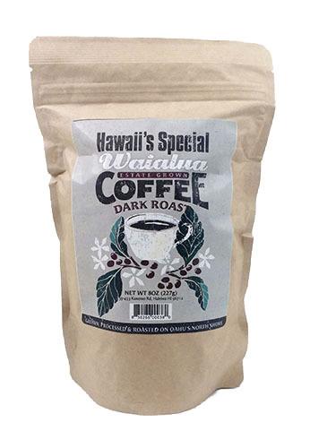 Waialua Coffee - Dark Roast, 8 oz - Ground