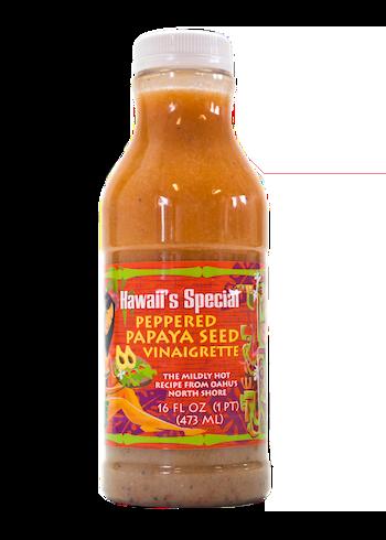 Peppered Papaya Seed Vinaigrette Dressing, 16 oz