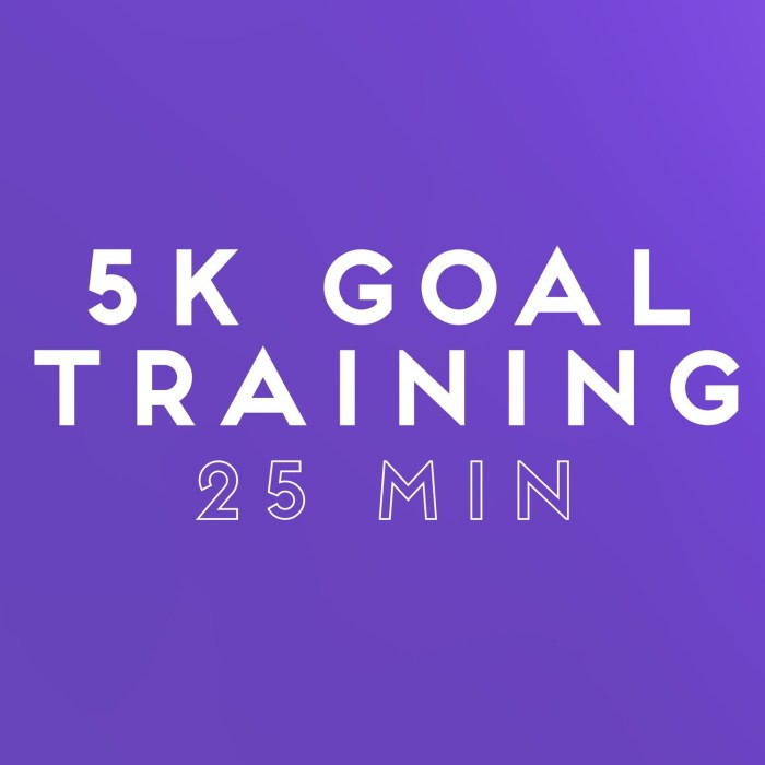 5k Goal Training: 25 min