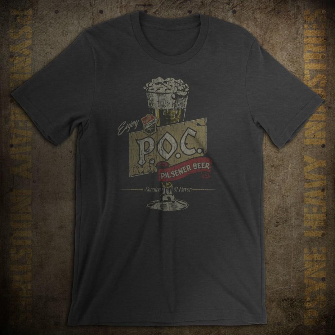 Pilsener Brewing Co. Pride of Cleveland P.O.C. Beer Vintage T-Shirt
