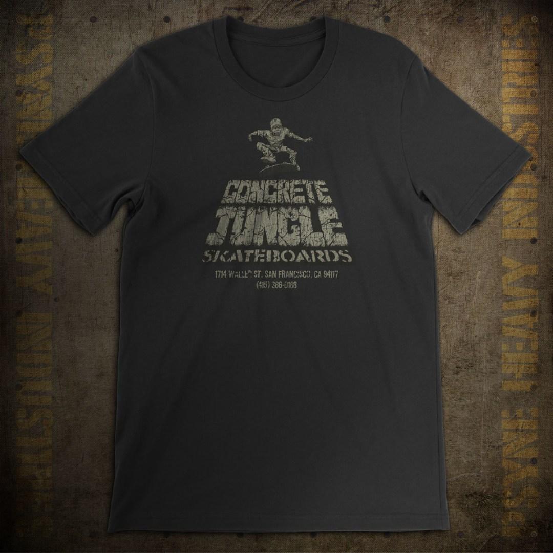 Concrete Jungle Skateboards Vintage T-Shirt