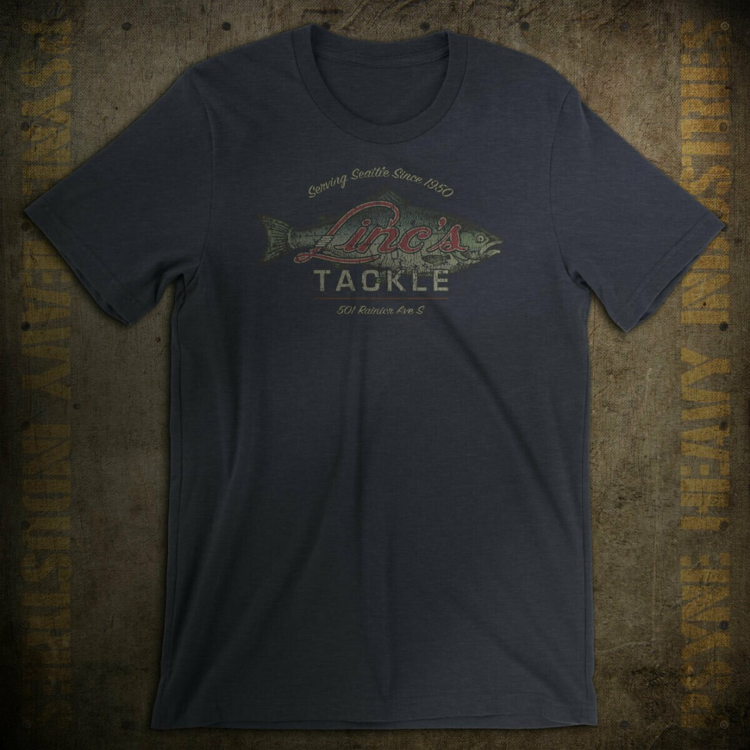 Linc's Tackle Vintage Seattle Fishing T-Shirt