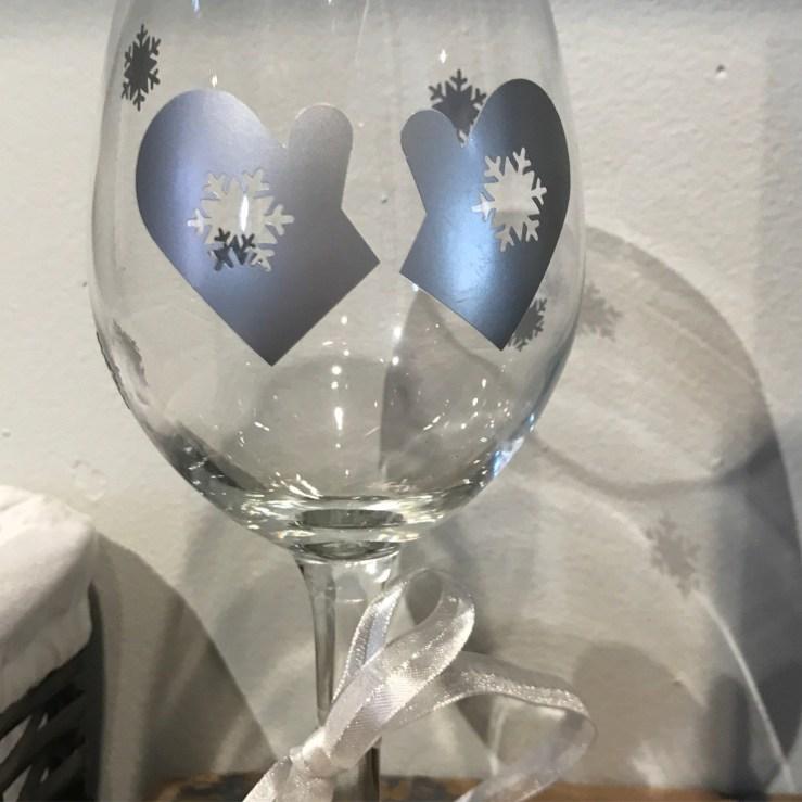 Winter Wine Glass