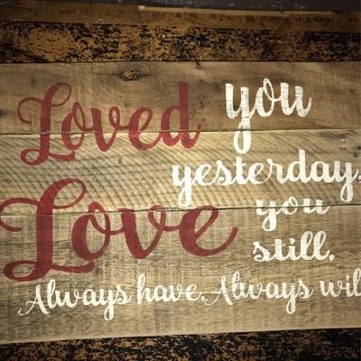 Pallet Sign - Loved You