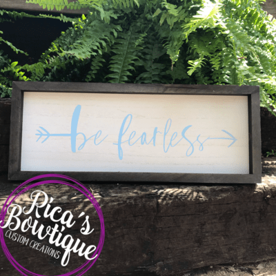 Be Fearless Double Sided Box Frame