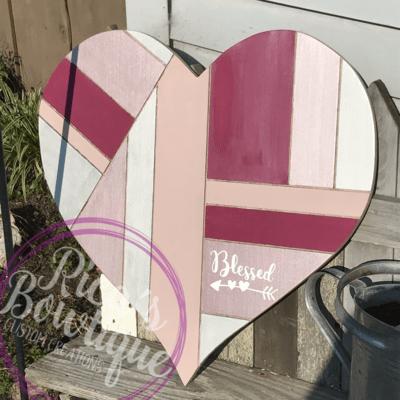 Pallet Inspired Heart