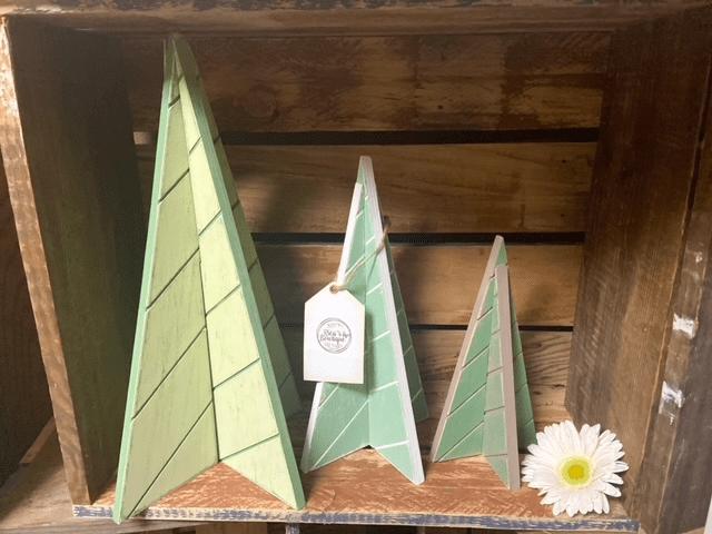 Unpainted 3D Tree Cutouts - Set of 3