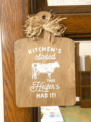 Kitchen's Closed - Decorative Cutting Board