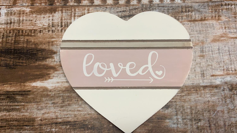 Wood Heart - Loved