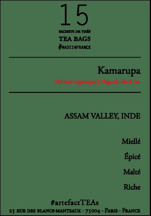 x15 Kamarupa Sachets de Thés / Tea Bags
