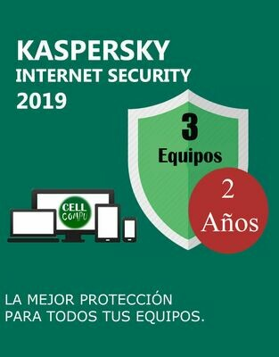 Kaspersky Internet Security 3 Pc 2 Años.
