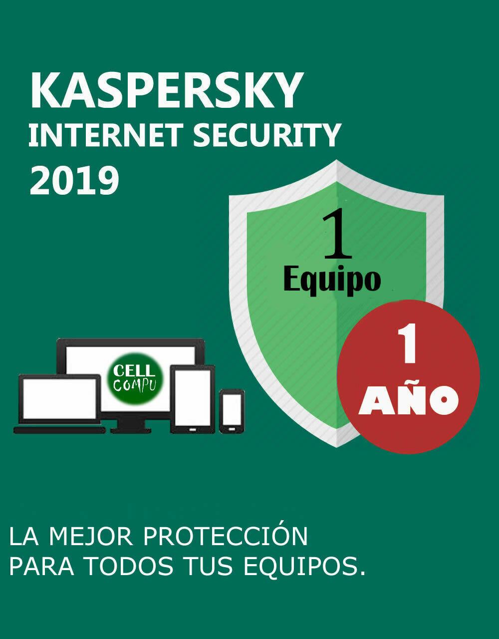Kaspersky Internet Security 1 Pc 1 Año.