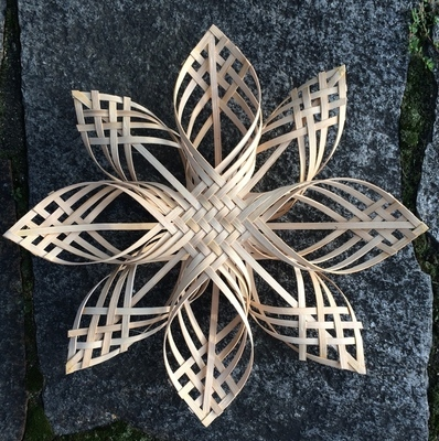 CLASS FULL:Carolina Snowflake (designed by Billie Ruth Sudduth.) Weave two 16