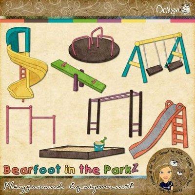 Bearfoot in the ParkZ: Playground EquipmentZ