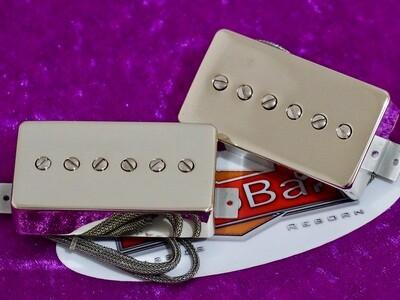 ThroBak Maximum Vintage Pro-90 Humbucker Sized P90 Guitar Pickup Brushed Nickel Set