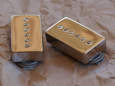 ThroBak Maximum Vintage Pro-90 Humbucker Sized P90 Guitar Pickup Nickel Set