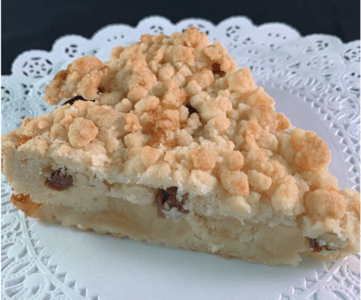 German Apple Crumb Cake - Slice