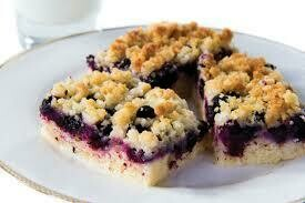 Blueberry Crumb cake Slice