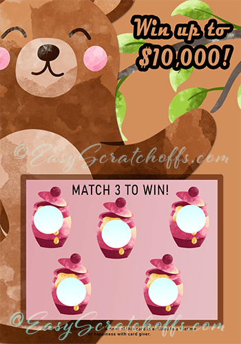 Honey bear scratch off template