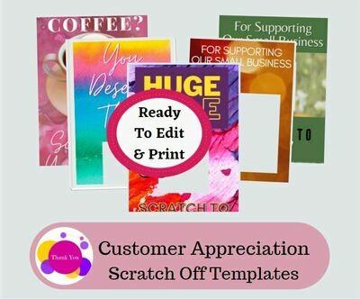 Customer appreciation scratch off coupons