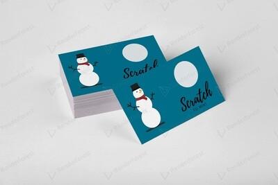 Business thank you scratch off card-snowman
