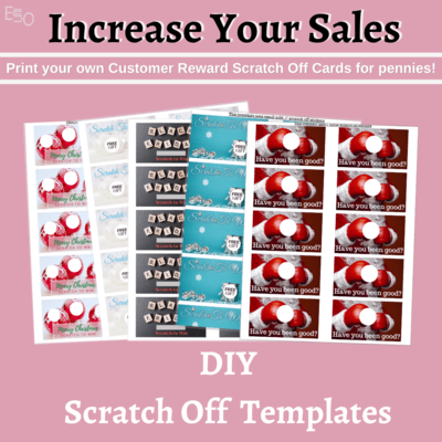 Holiday bundle scratch off templates-increase your sales
