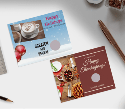 Holiday Scratch Off Cards-Post Card size