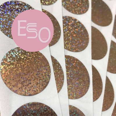 Hologram glitter scratch off stickers, set of 100