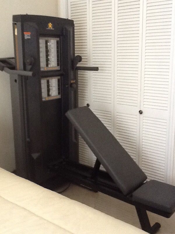 Pro Form Cross Trainer Treadmill Weight Bench Beauty