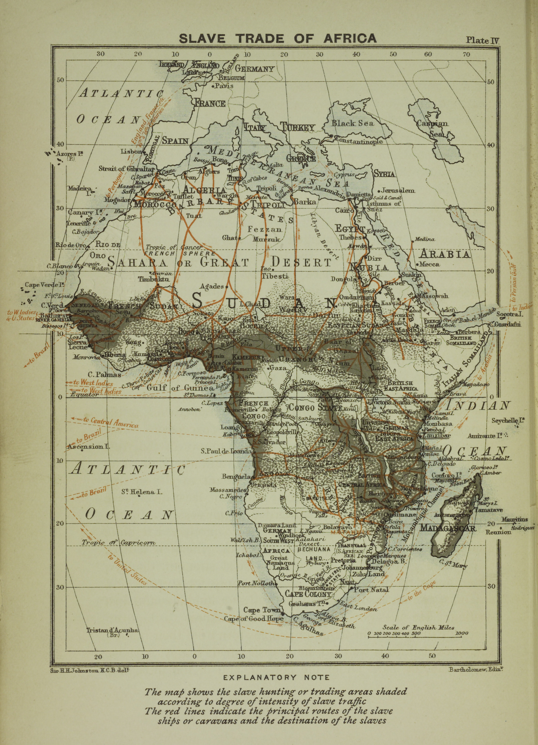 A Map Of The Slave Trade In Africa That Shows The Regions