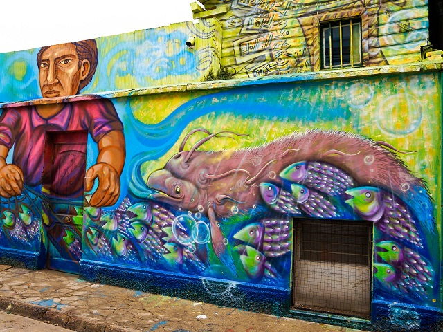 Street art, Valparaiso, Chili