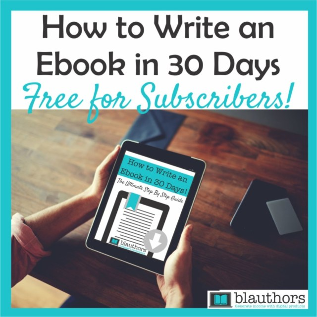 Free Ebook Template - How to Write Your Ebook in 23 Days - blauthors