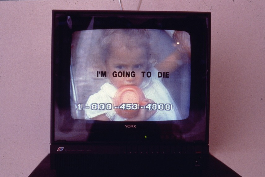 Grertchen Bender - Installation views of TV Text and Image