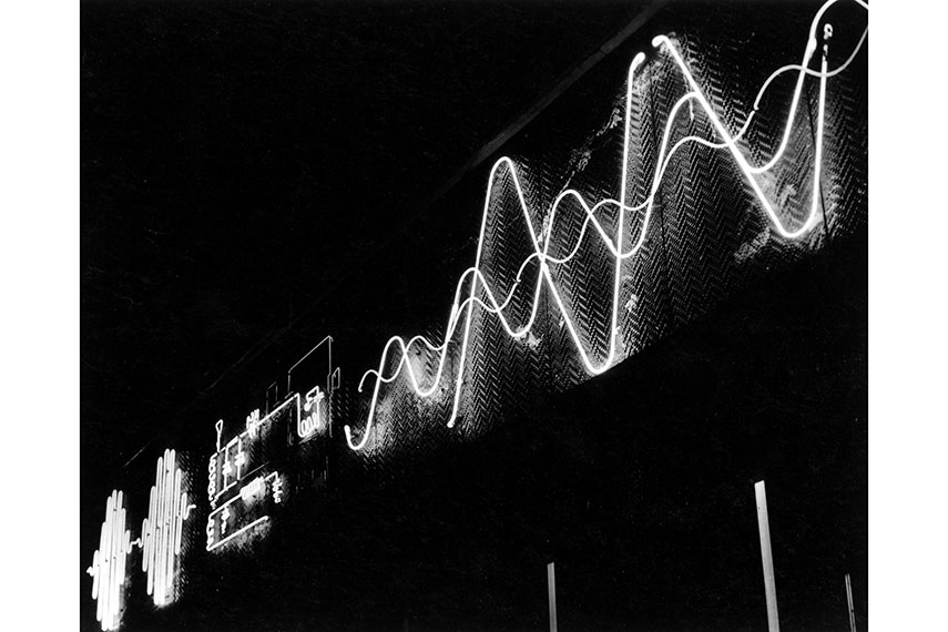 Diving Into the Astounding Waters of Abstract Photography   Widewalls Gy    rgy Kepes   Kinetic outdoor neon light mural for Radio Shack  Boston   1949