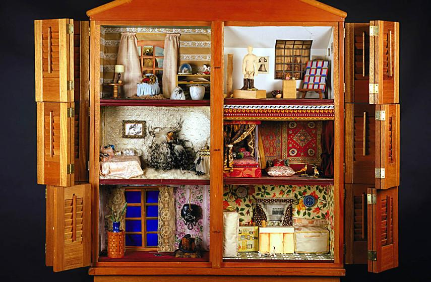 Miriam Schapiro - Dollhouse (detail), photo credits collection from the Luce Foundation for American Art