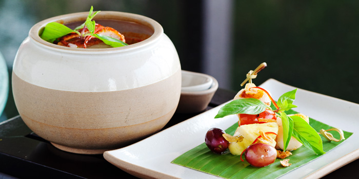 Food from Saffron at Banyan Tree Bangkok in Sathorn, Bangkok