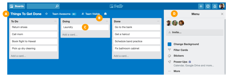 Product Backlog Tools: Trello