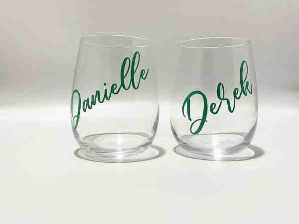 Customised Stemless Wine Glasses Tumblers